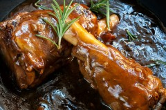 Slow Cooked Lamb Shanks with Red Wine